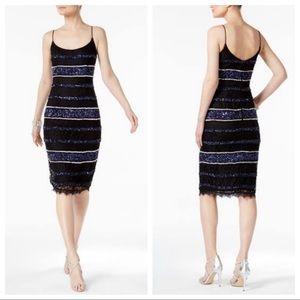 Adrianna Papell Sequined Body con Party Dress